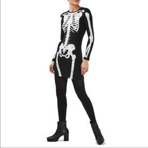 Topshop Black Skeleton Dress